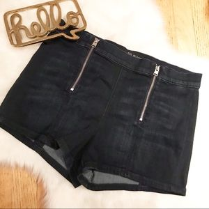 Express NWT High Rise Double Zip Shorts